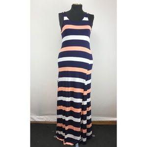 Gap Sleeveless Striped Maxi Dress